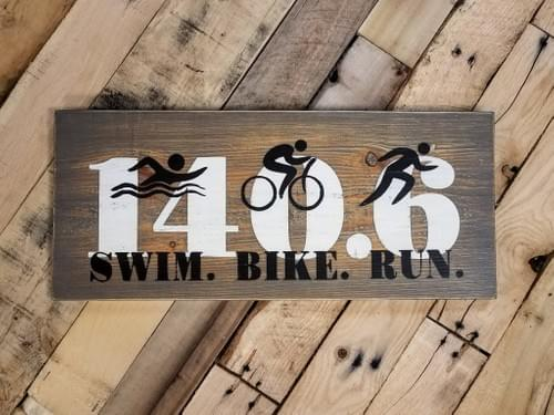 Iron Man Triathlon Sign