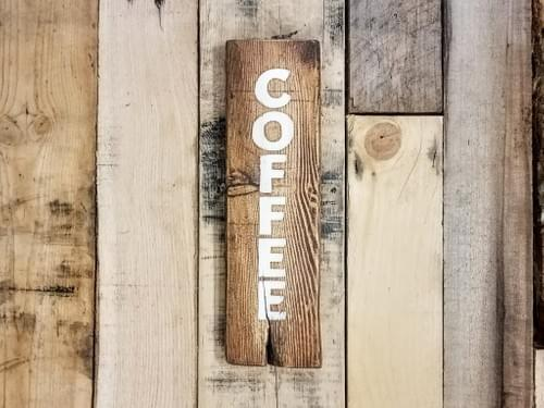Vertical Coffee Sign - Small