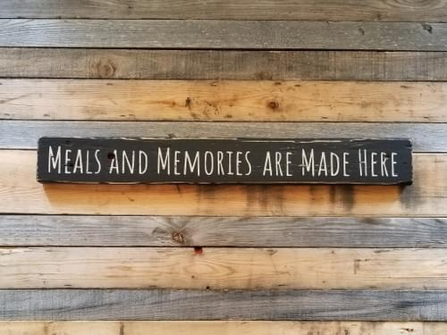 Meals And Memories Kitchen Sign