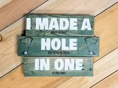 Hole In One Sign