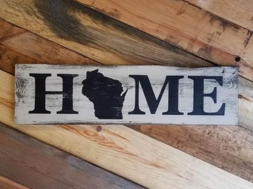 Home (Wisconsin) Horizontal Sign