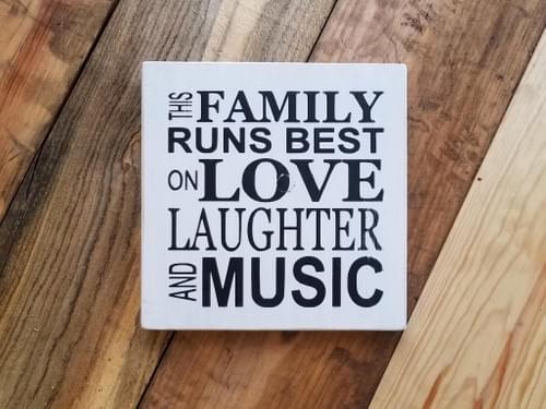 Love Laughter Music Sign