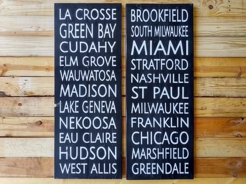 Cities - Subway Art Wood Sign