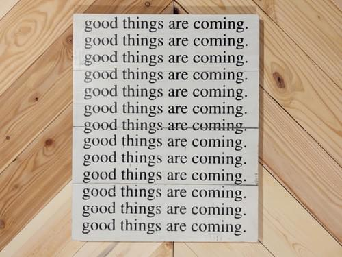 Good Things Wood Sign