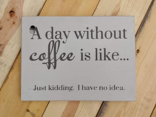 No Coffee Day Sign
