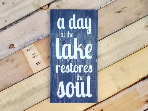 Lake Soul Wood Sign