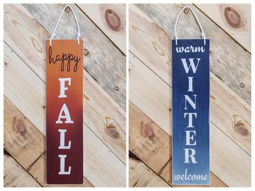 Reversible Fall/Winter Vertical Door Hanger