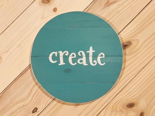 Create Round Wood Sign