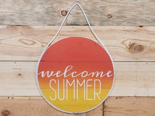 Reversible Spring/Summer Round Door Hanger