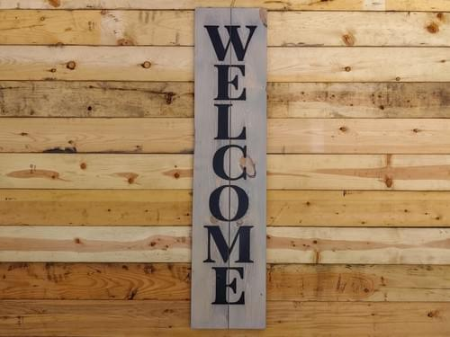 "Welcome - 48"" Vertical Sign"