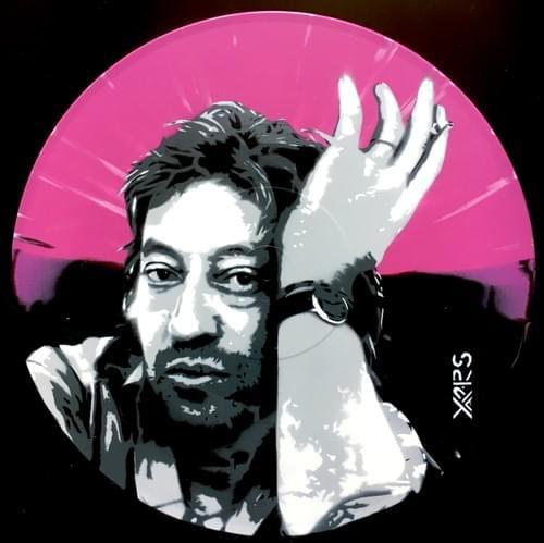 Gainsbourg Sur Vinyl Marbré Rose/Noir