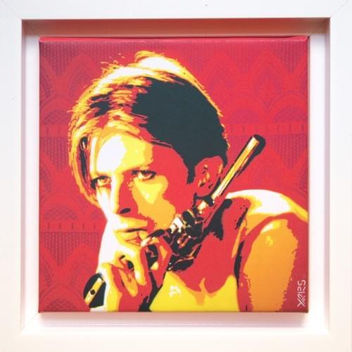 Bowie en caisse américaine blanche