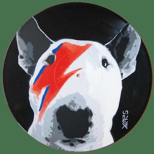 BullBowie Pochoir sur vinyle 33t