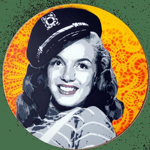 Marilyn jaune sur vinyle 33t