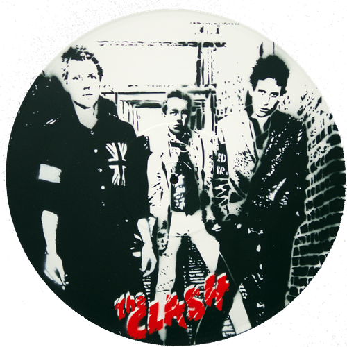 the Clash Pochoir sur vinyle 33 t