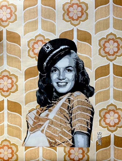 Sailor Marilyn / Papier peint vintage 70's