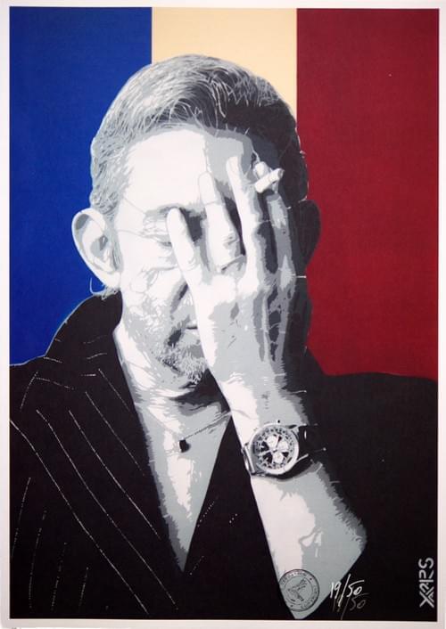 Gainsbourg Terrasson / Yarps sur papier Rembrandt 350g