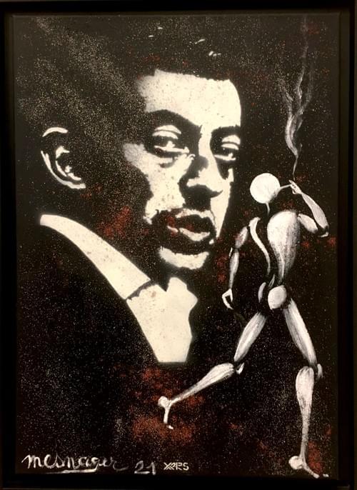 Gainsbourg le fumeur de Gitanes / Collab Jérome Mesnager-Yarps / 92x65