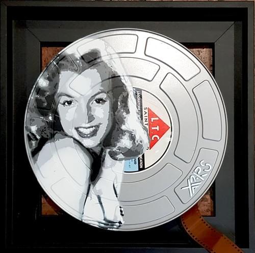 Marilyn Monroe sur boite film