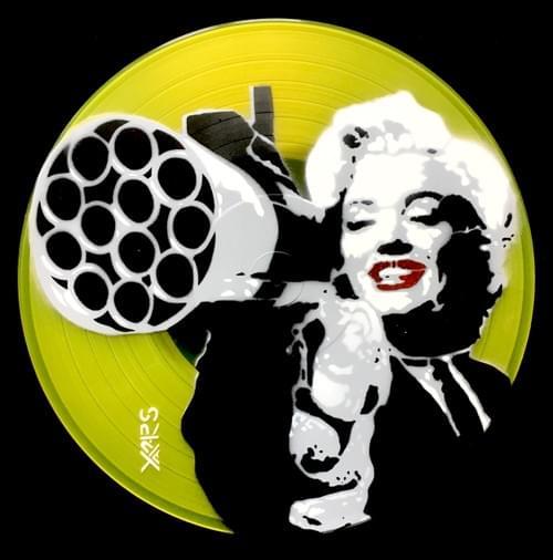 Marilyn sur Vinyl Jaune Transparent