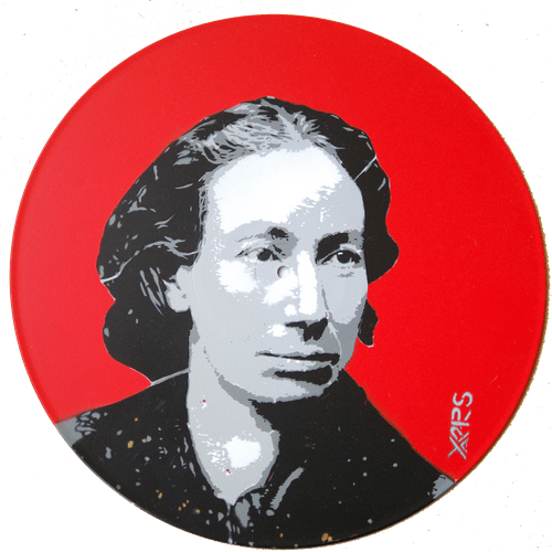 Louise Michel Pochoir sur vinyle 33t