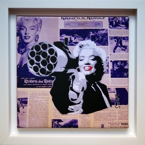 Marilyn en caisse américaine blanche