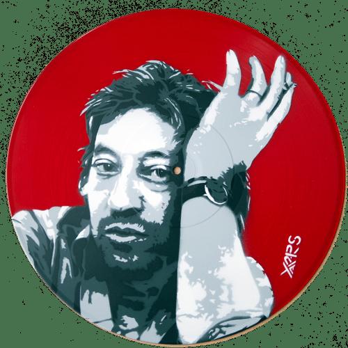 Gainsbourg rouge sur vinyle 33t translucide