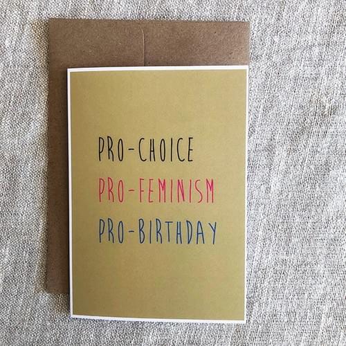 Feminist Birthday Card - Radical Birthday Card