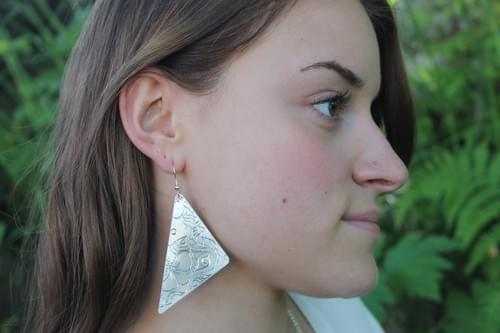 Extra Large Alaska Botanical Earrings