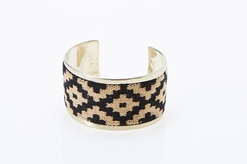 Silver + tribal pattern cuff