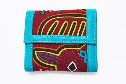 Colombian turquoise wallet