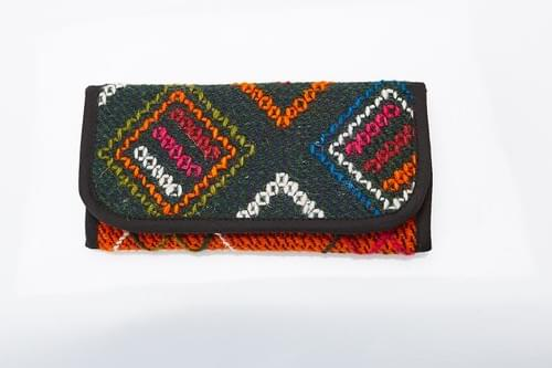 Embroidered colorful wallet