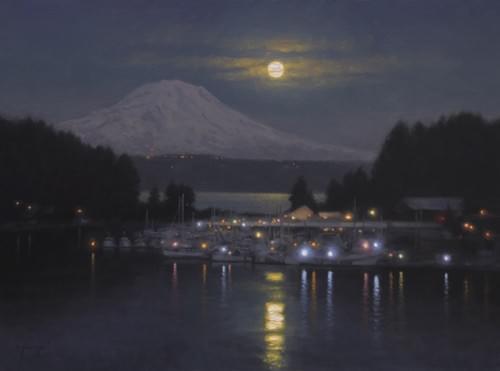 Harbor Moonrise (18x24)