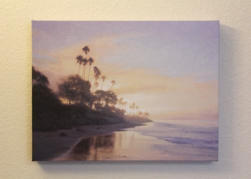 Butterfly Beach - Lifting Fog (12x16)