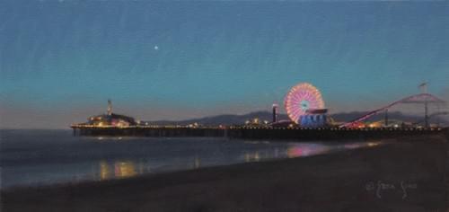Santa Monica Sunset (6x12)