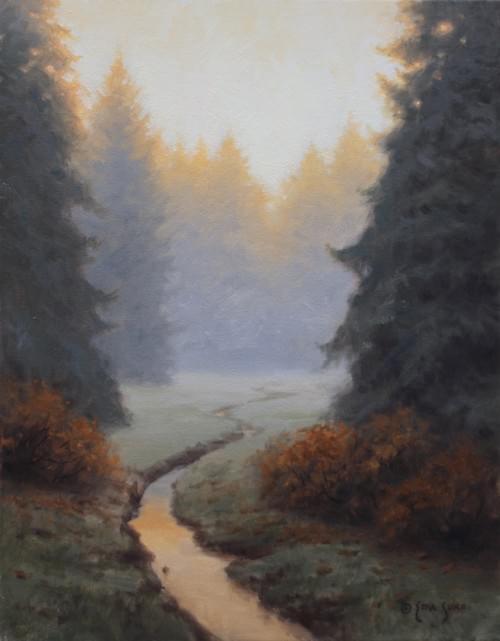 Quiet Autumn Dawn (14x11)