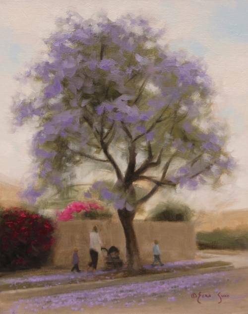 A Stroll Through the Blossoms (10x8)