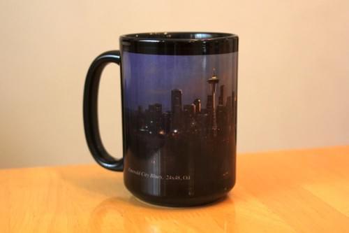 """Emerald City Blues"" Mug"