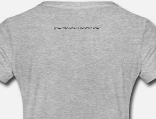 Women's T-Shirt - Impossible is Just a Word (Heather Gray)