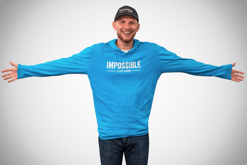 "Thin Long Sleeve Shirt - ""Impossible is Just a Word"""