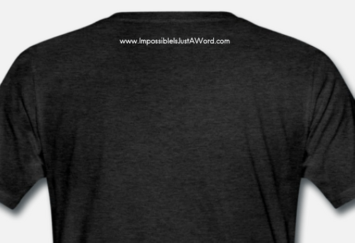 Men's T-Shirt - Impossible is Just a Word (Charcoal Grey)