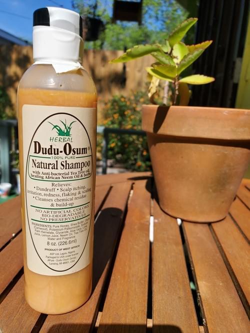 Dudu Osum 100% Pure Natural Shampoo (Anti-bacterial tea tree oil, Neem oil and Herbs
