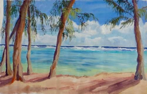 plage de Flic en Flac plein soleil