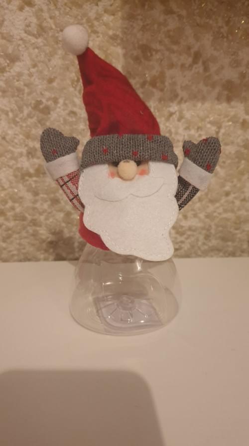 Christmas Themed Plastic Sweet Jar