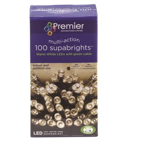 100 White Led Lights