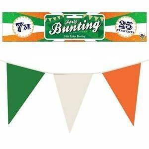 FLAG BUNTING 7M W/25 PENNANTS IRELAND NYLON