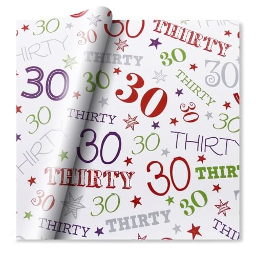30th Celebration Wrapping Paper