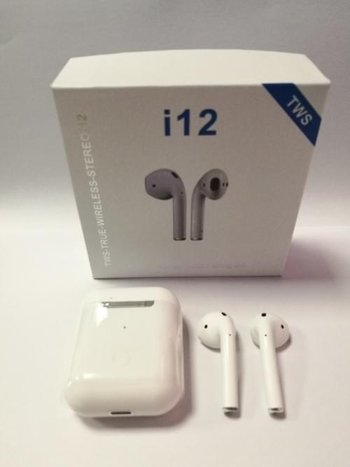 I12 Tws Wireless Bluetooth 5.0 Touch Headphone Air Pods with Charging Box