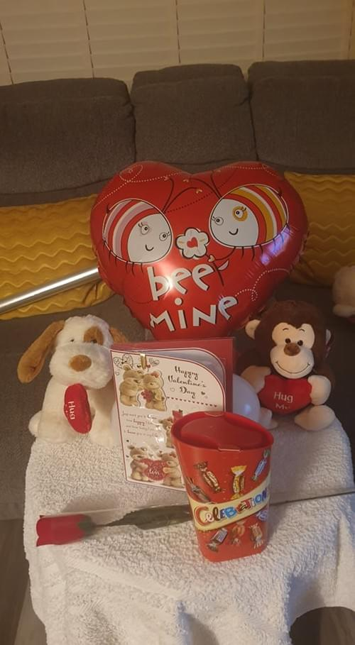 Kids valentines Hamper