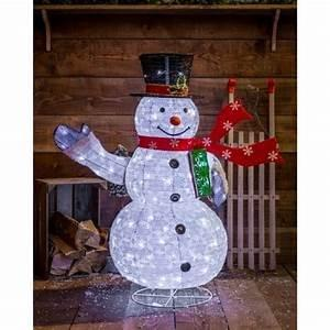 120cm Plug in led snowman indoor or outdoor use €50